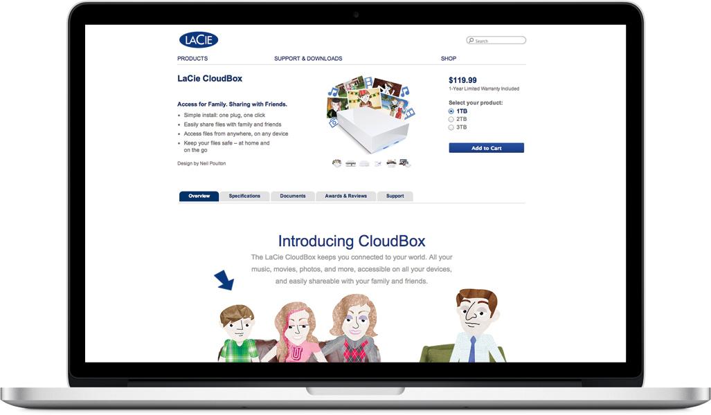 LaCie CloudBox webpage